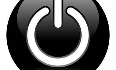 black-power-button-vector